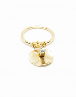 Metal Plate Gold Color Ring